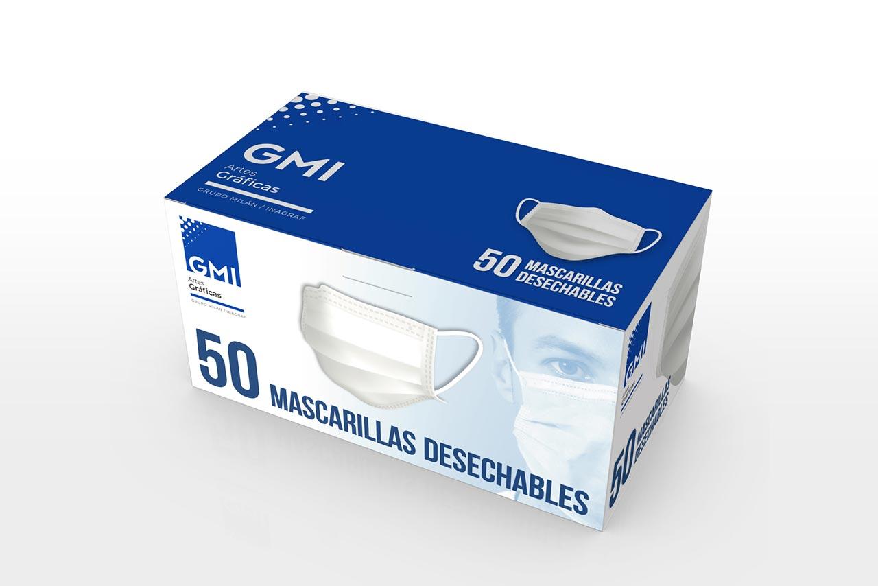 Packaging para mascarillas