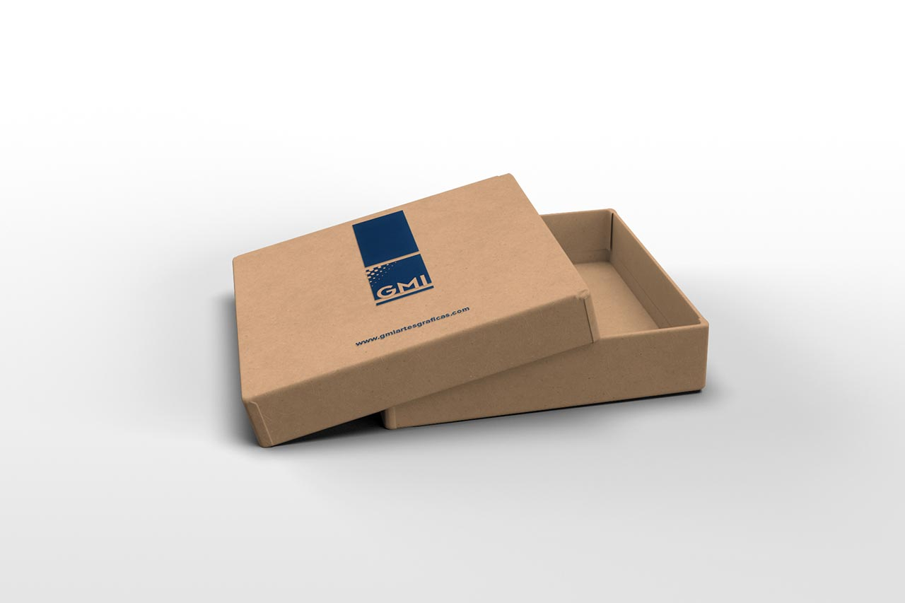 Packaging para ecommerce con tape y fondo.